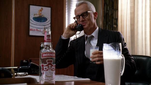 Mad Men Roger Vodka Milk