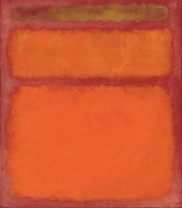 Rothko orange red yellow