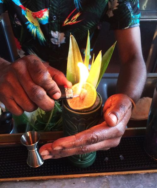 Hamilton Rum Reanimator Flame