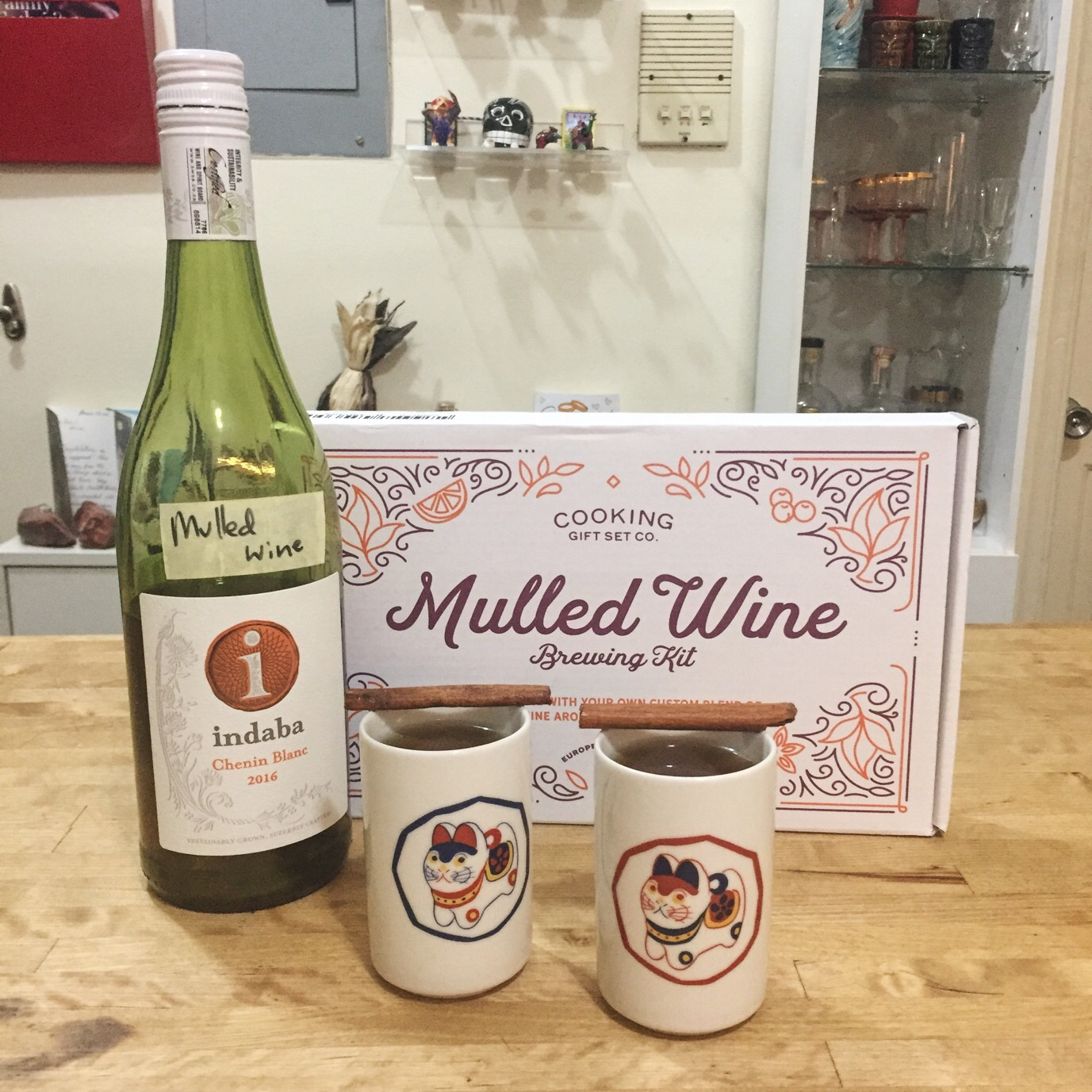 I Made Mulled White Wine with the Cooking Gift Set Co. Brewing Kit and Itu0027s a Game Changer | Home Bar Girl & I Made Mulled White Wine with the Cooking Gift Set Co. Brewing Kit ...